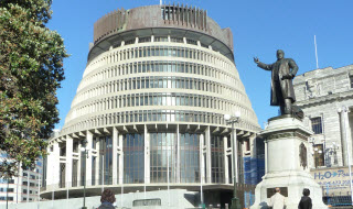 Beehive NZ Parliament building