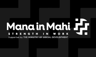 Mana in Mahi, Strength in Work logo